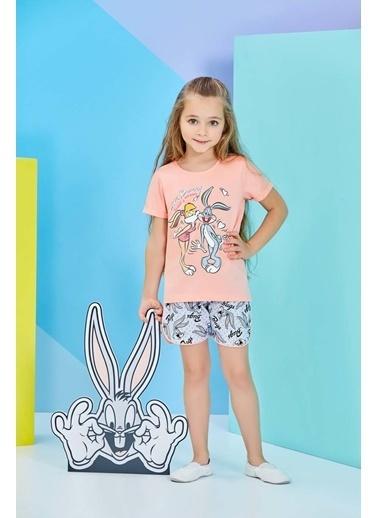 Bugs Bunny Lola Bunny Lisanslı Karmelanj Kız Çocuk Şortlu Takım Pembe